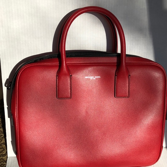 Michael Kors Other - Michael Kors NWT Red leather briefcase ( Warren)